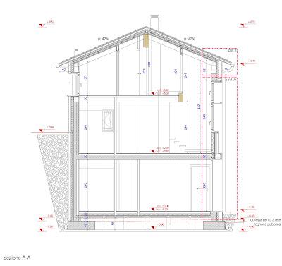 plano seccion y detalle constructivo de la casa de pueblo