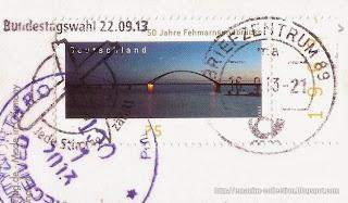 50 Jahre Fehmarnsundbrücke stamp
