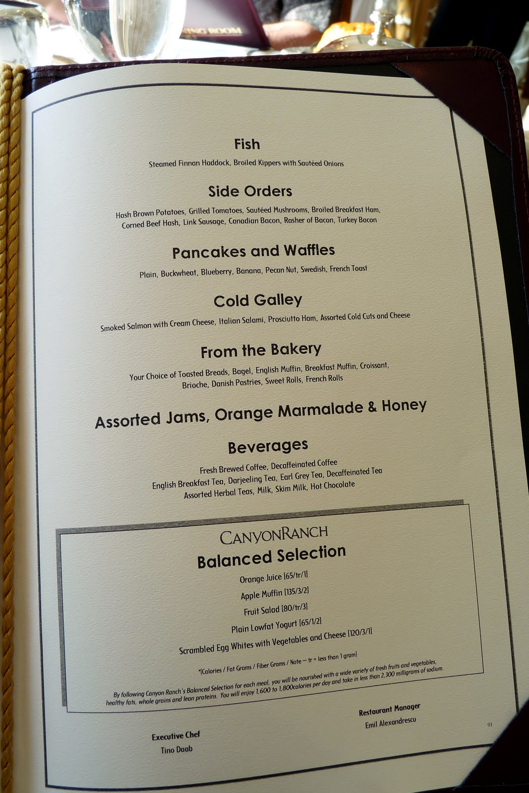 Schecktrek day 2 venice oceania cruise for W hotel in room dining menu