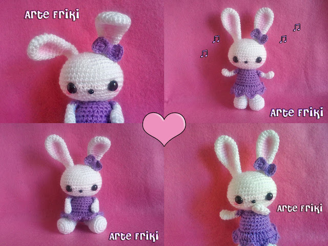 conejo amigurumi bunny cute sweet kawaii crochet ganchillo peluche