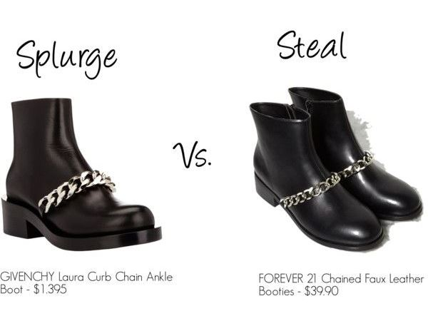 splurge vs steal chain ankle boots cheap affordable givenchy dupes