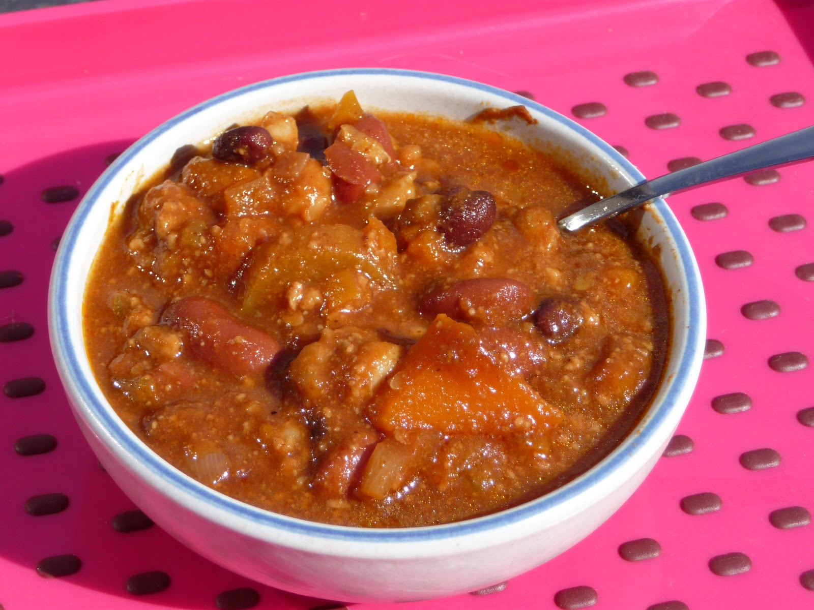 ... was adapted from Super Peanut Butter Chili and Sweet Potato Chili