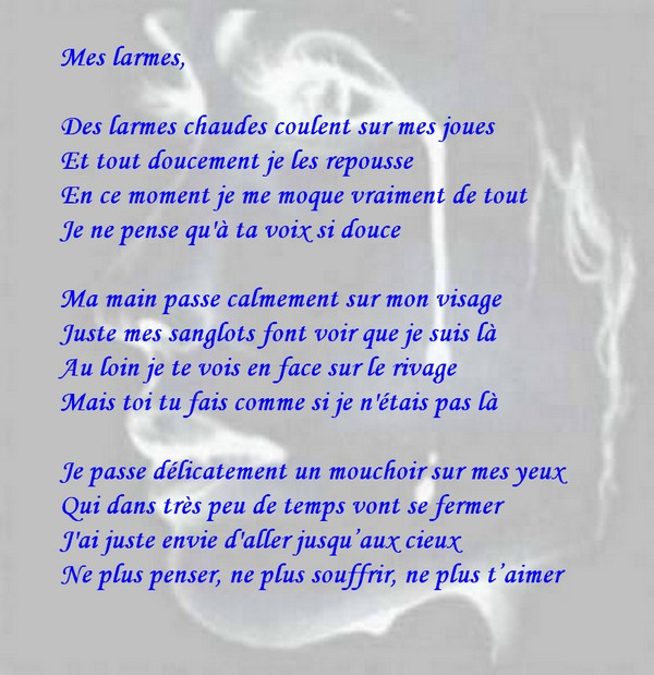Message d 39 amour et d 39 amiti carte chagrin d 39 amour amour triste po me mes larmes - Carte d amour ...