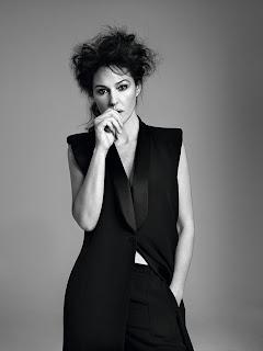 Monica Bellucci wearing black dress