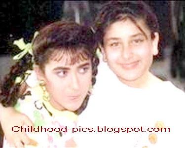 Kareena kapoor and karishma kapoor childhood pics