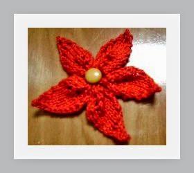Flor de tricot