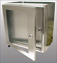 pembuatan panel box stainless steel double pintu swing