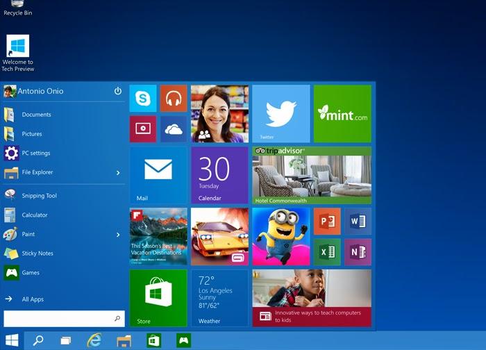 5 Novidades no Preview do Windows 10