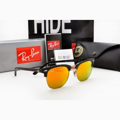 ray ban mercury  rayban clubmaster rb3016 black frame, fire mercury lens