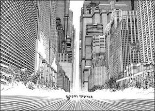 L'art de Katsuhiro Otomo - Akira - décor urbain détaillé