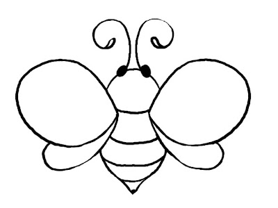 Remarkable image pertaining to bee template printable