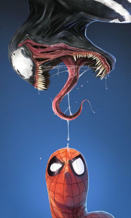 Dan Luvisi deviantart ilustrações digitais fantasia filmes quadrinhos cultura pop O que... Venom