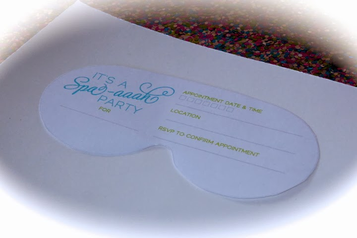 spa mask invitation template - bolling with 5 a spa aaahprise invitation to lilah 39 s 5th