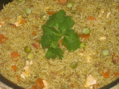 Fish fried rice with veggies~Only Fish Recipes