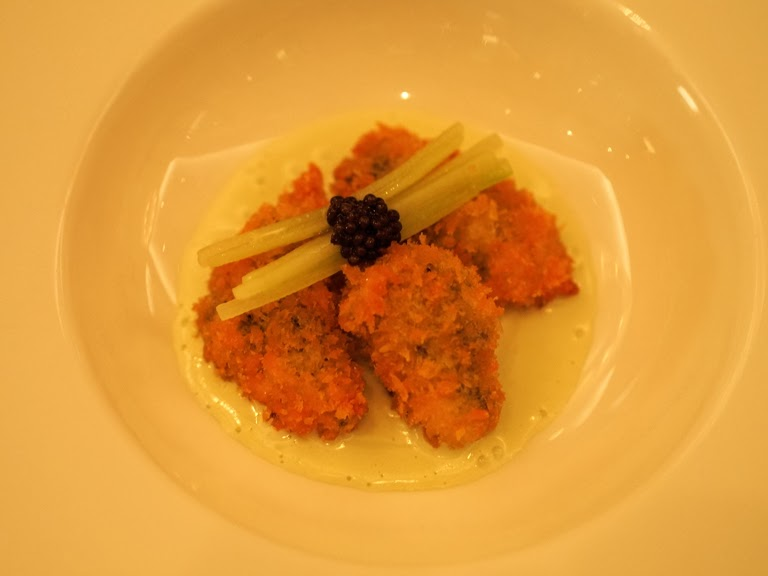 crispy oysters caviar