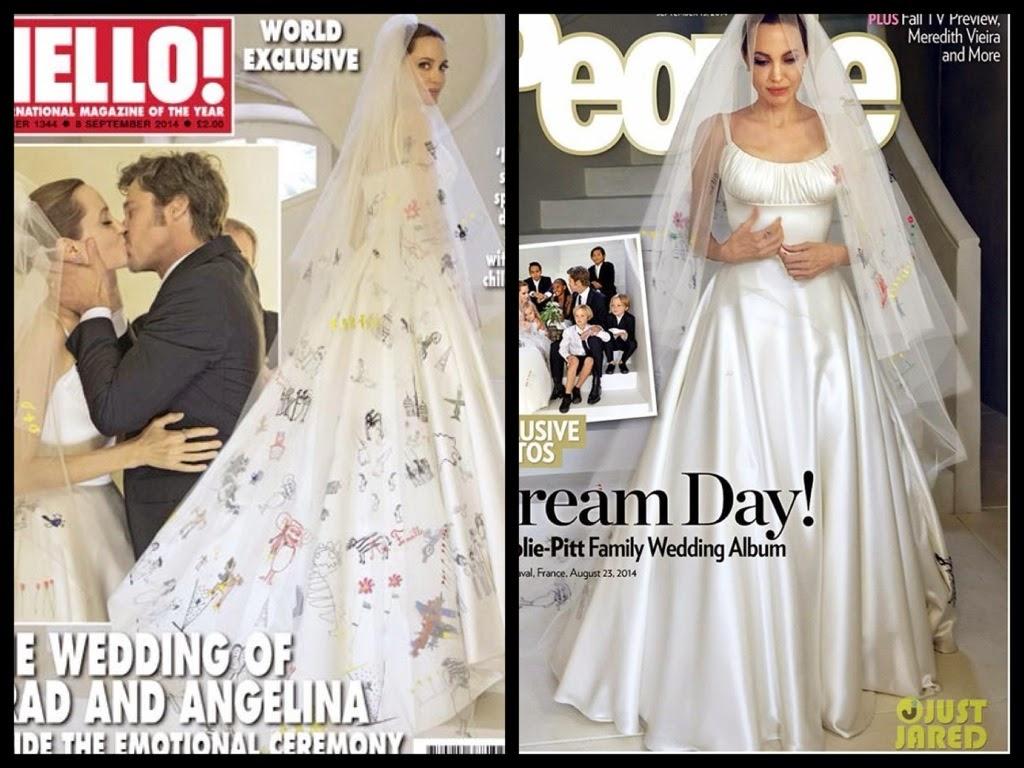 abiti da sposa vip, abito sposa angelina jolie, versace abiti sposa