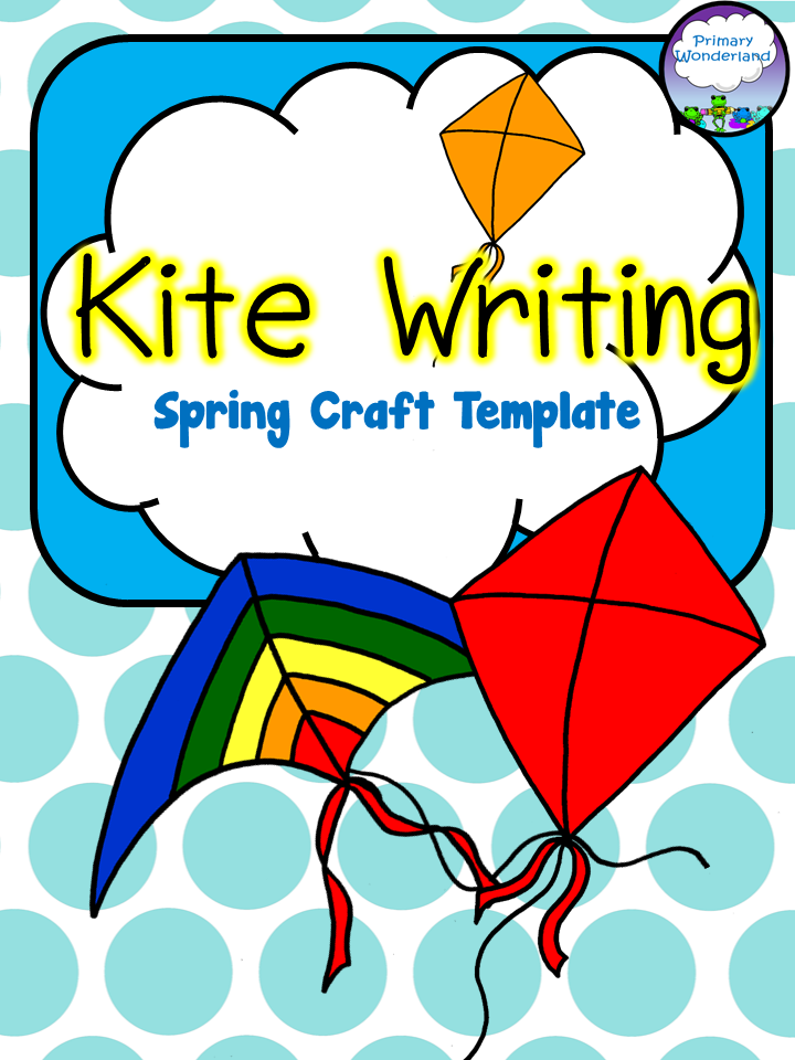 Kite Writing Spring Template