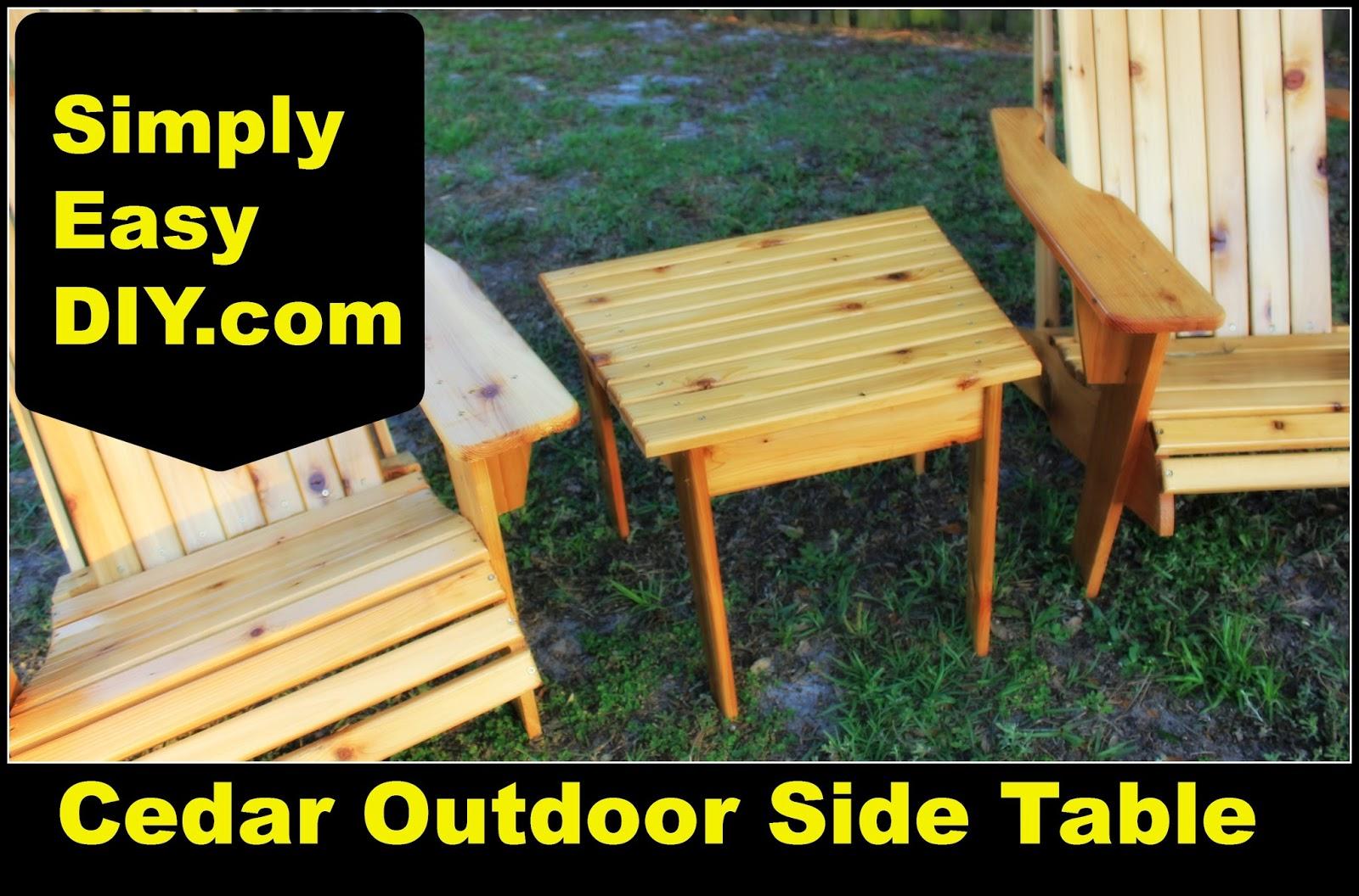 Cedar Adirondack Style Side Table