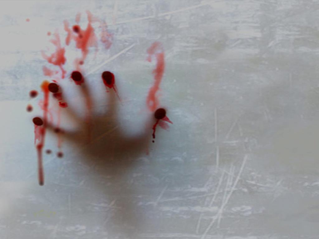 Sangre en la paredes
