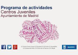 programación de los centros juveniles del Ayuntamiento de Madrid