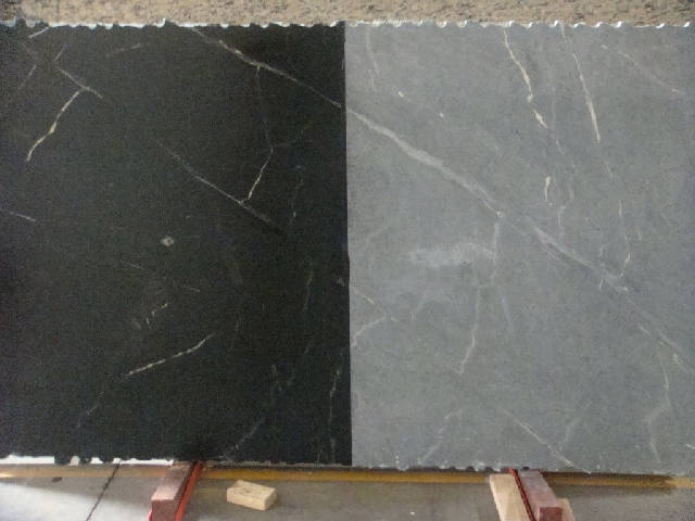 Natural   Gray * Oiled   Dark Black With White Veins