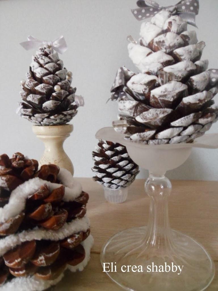 Eli crea shabby co decorazioni con le pigne - Decorazioni natalizie con le pigne ...