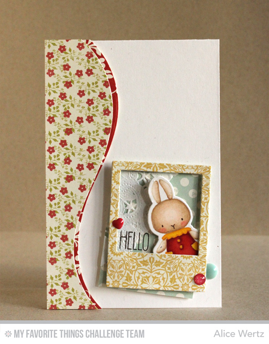 Sweet Hello Card from Alice Wertz featuring the BB Somebunny stamp set and Precious Polaroids Die-namics