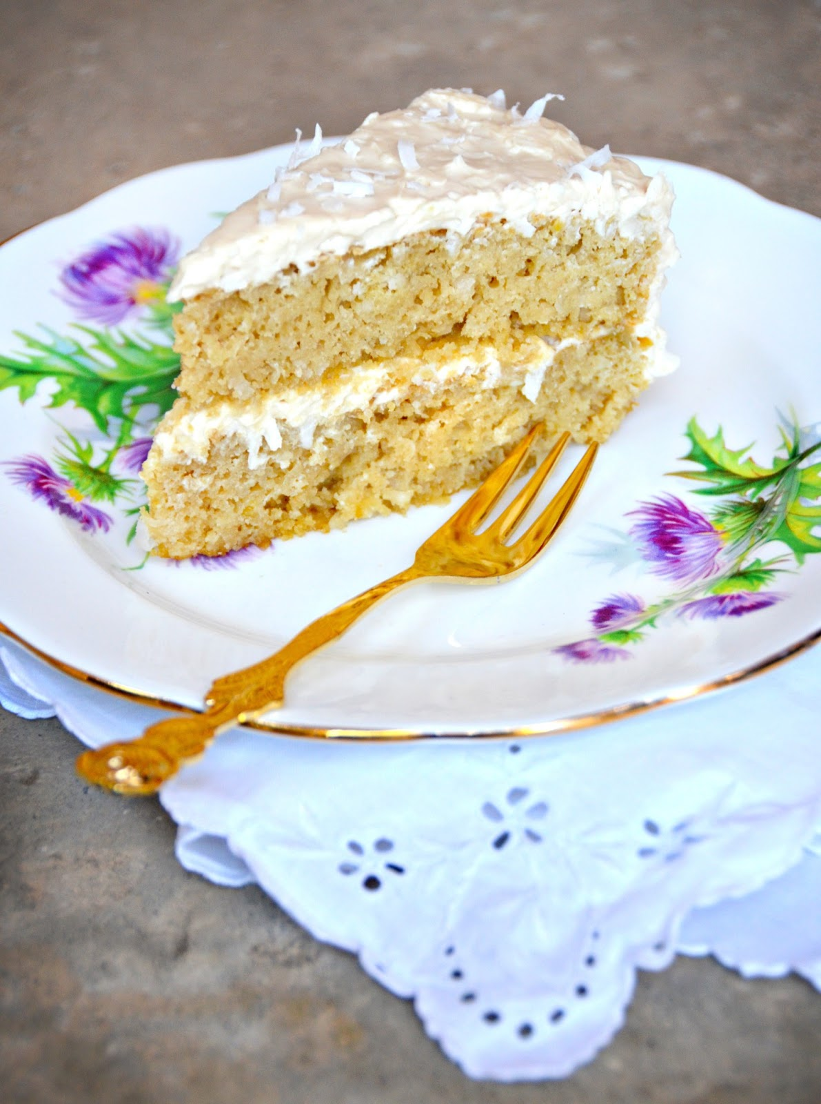 Processed Free and Me: Coconut Cake with Coconut Cream Cheese Frosting