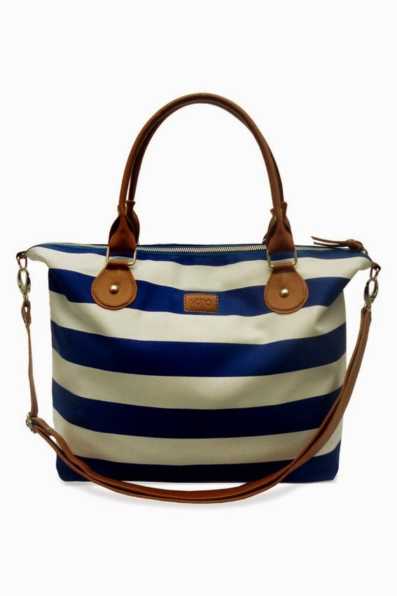 Vona Nautical Carriole - Biru/Putih