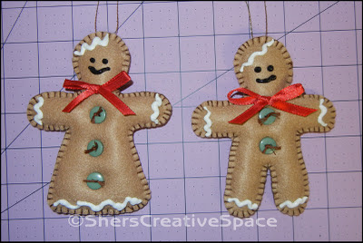 christmas ornament tutorial, free christmas pattern, free christmas tutorial, gingerbread boy tutorial, gingerbread girl tutorial, felt ornament tutorial, felt christmas tutorial, feltie tutorial, sewing pattern, sewing tutorial, blog tutorial, craft tutorial, free pattern, free tutorial