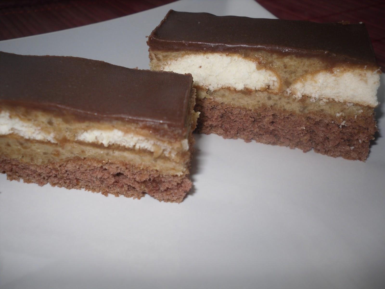 Orechovo kakaový zákusok