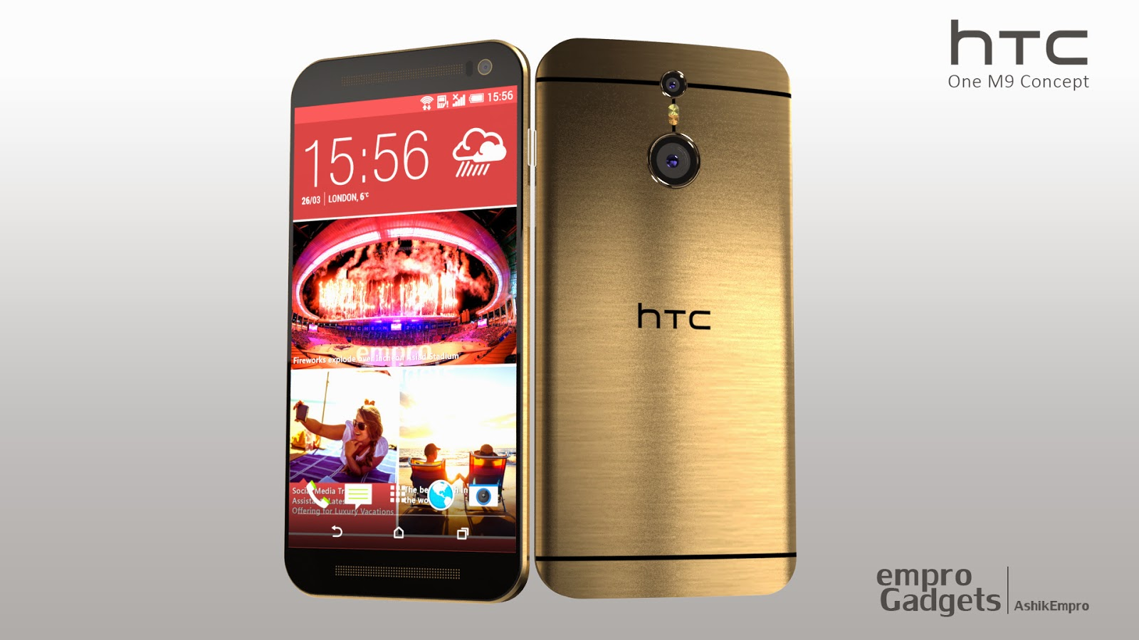New HTC One M9 Concept Images By Ashik Empro Look Stunning