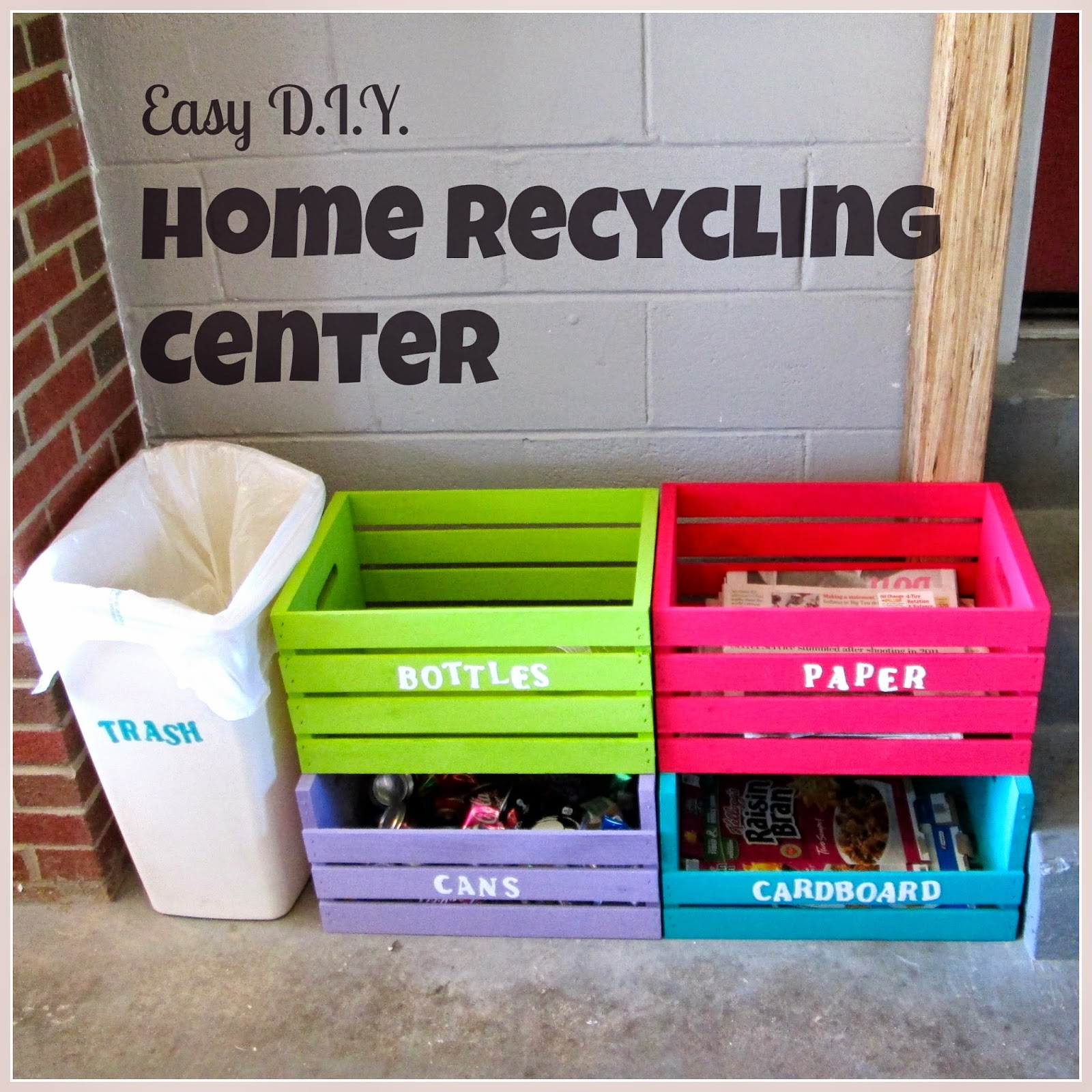 Laura 39 s plans easy d i y home recycling center for Reuse of waste material at home