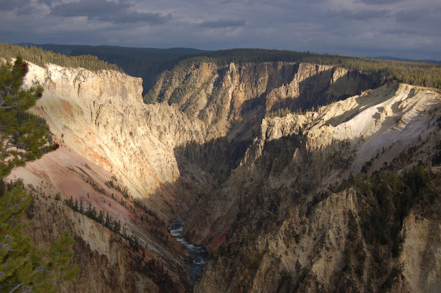Deep gorge of the Grand Canyon of the Yellowstone