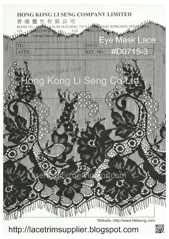 Eye Mask Lace Manufacturer Wholesale and Supplier - Hong Kong Li Sen Co Ltd