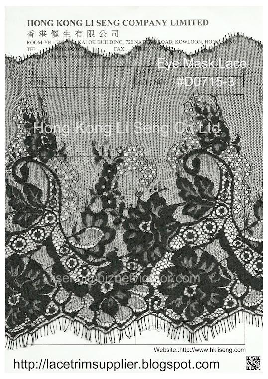 Eye Mask Lace Manufacturer Wholesale and Supplier - Hong Kong Li Sen Co Ltd