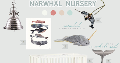 California Peach Narwhal Nursery Nursery Baby Room