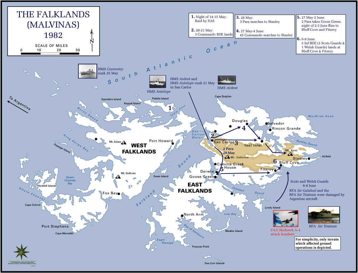 a history of the falkland islands conflict between britain and argentina Early in its history,  in the first world war battle of the falkland islands in december 1914,  was affected by declining wool prices and the political uncertainty resulting from the revived sovereignty dispute between the united kingdom and argentina.