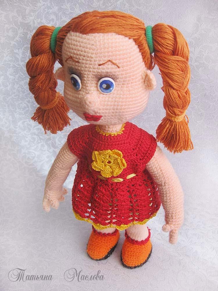 вязаная крючком кукла