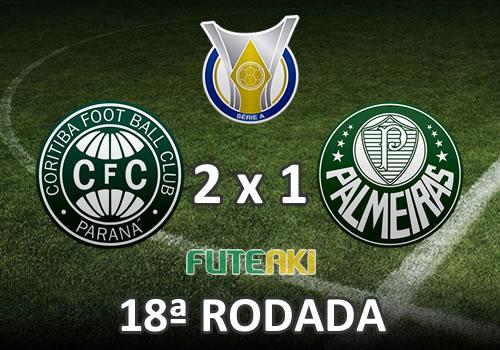 Veja o resumo da partida com os gols e melhores momentos de Coritiba 2x1 Palmeiras pela 18ª rodada do Brasileirão 2015