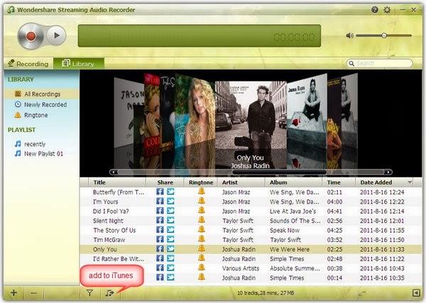 Descargar Wondershare Streaming Audio Recorder (Grabar música online)