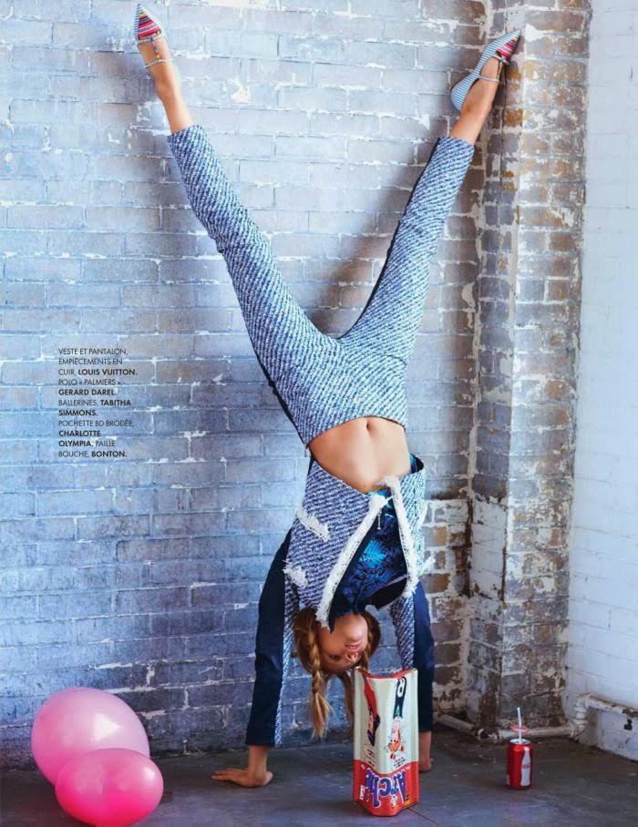 Magazine Photoshoot : Marloes Horst Photoshot by Ben Watts for Elle Magazine France January 2014 Issue