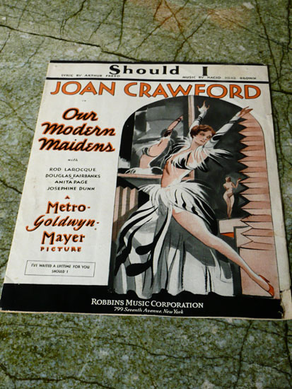 vintage sheet music Joan Crawford by Lady by Choice