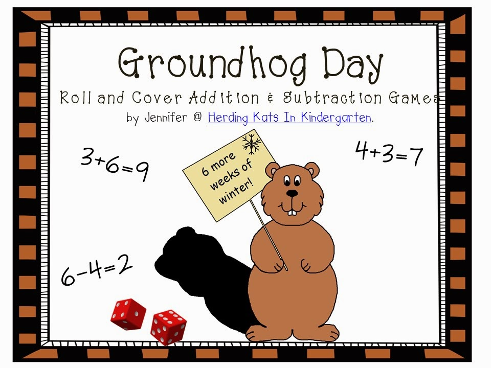 https://www.teacherspayteachers.com/Product/Groundhog-Day-Roll-And-Cover-Addition-and-Subtraction-Game-196100