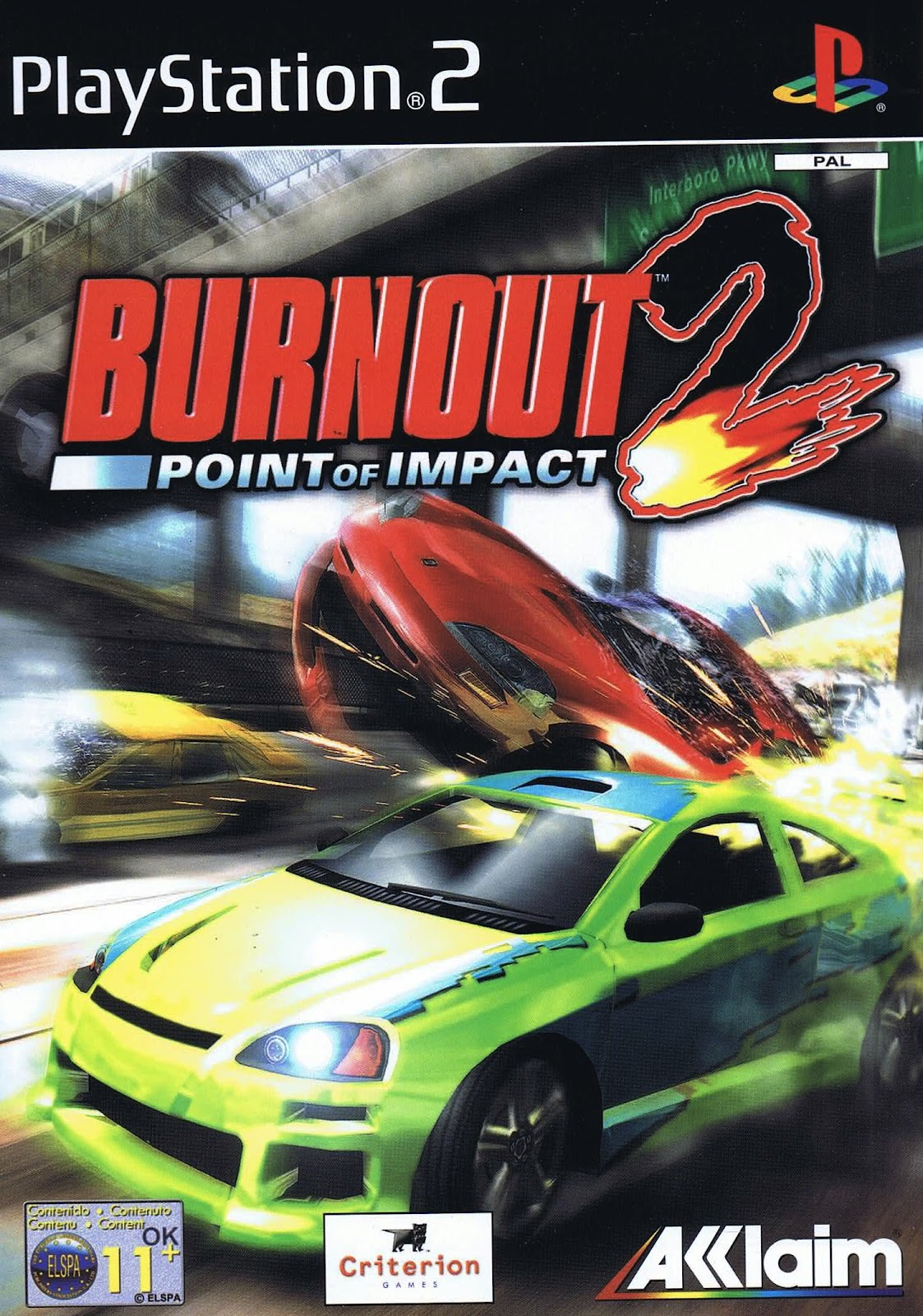 Super Compactado Burnout 2 Point of Impact PS2