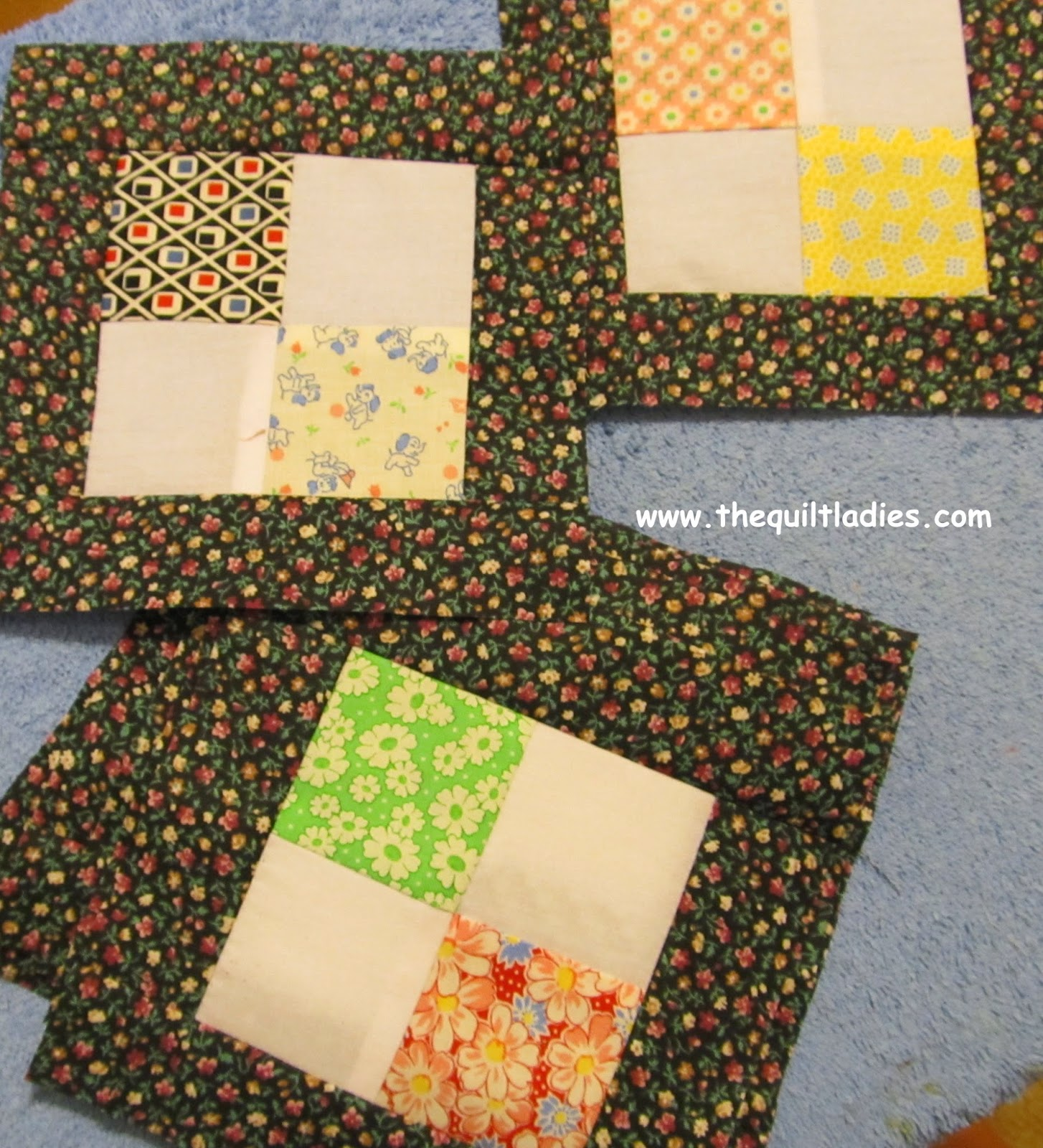 how to make a 4-patch quilt