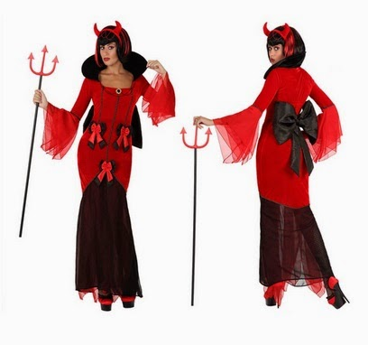 Disfruta de tu disfraz de diablita con lazo