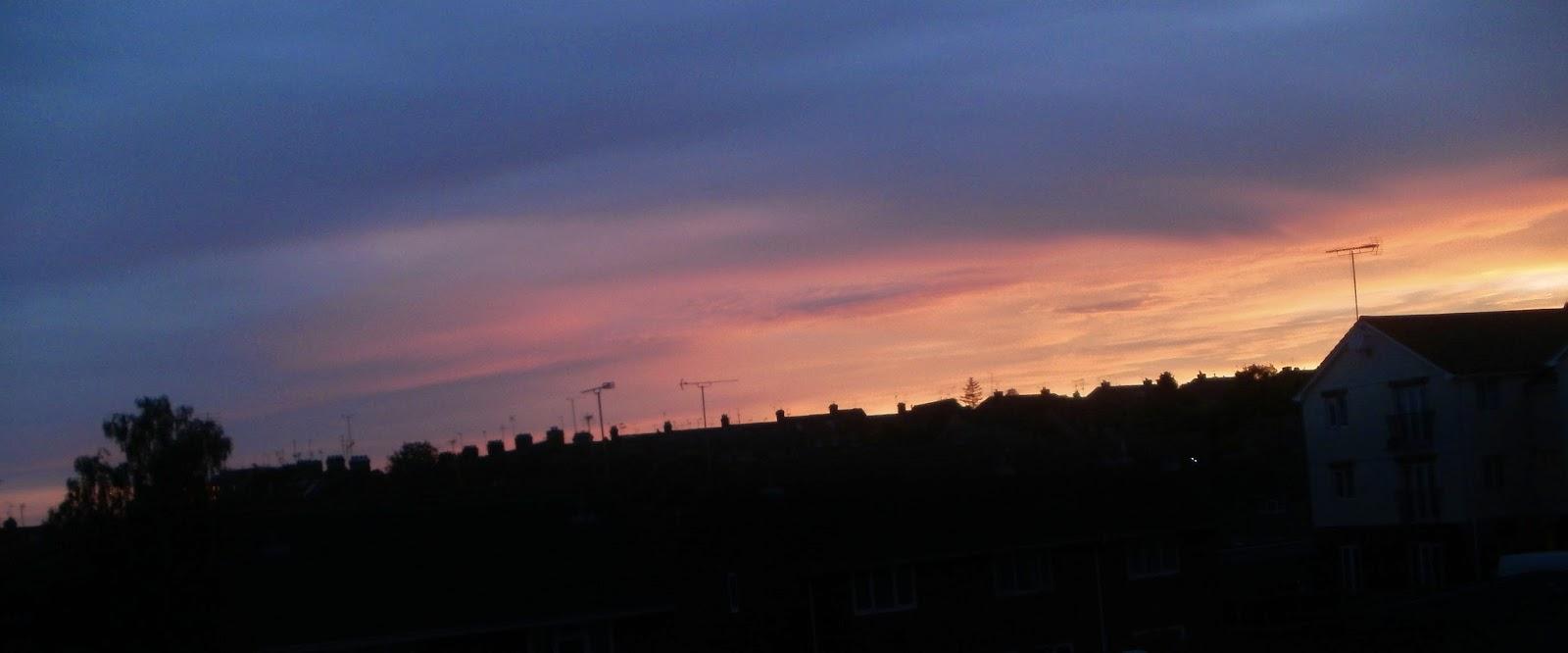 sunset, silhouette