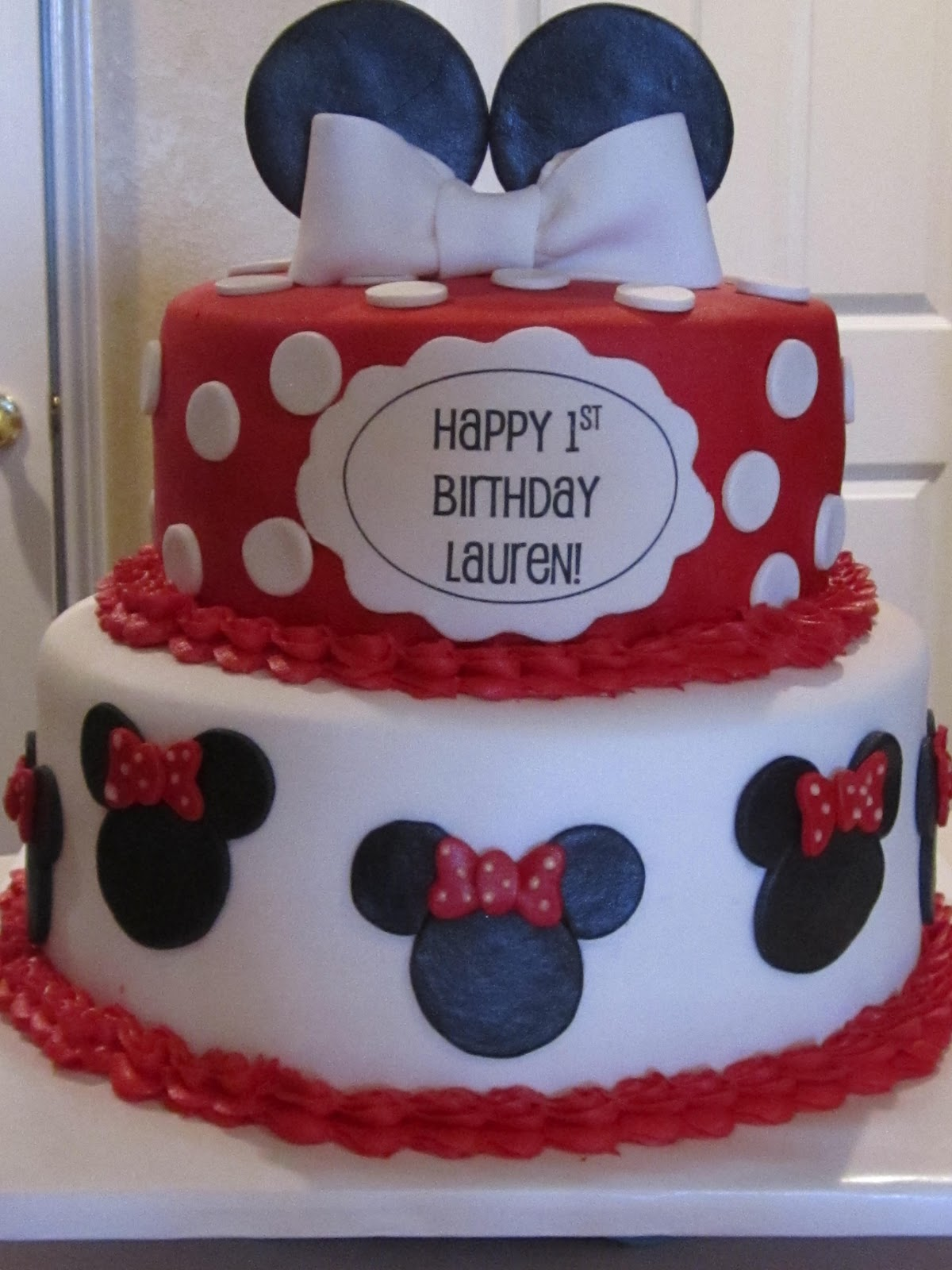 Frosted Insanity Mini Mouse 1st Birthday Cake