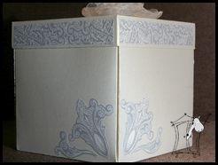 Kartka pudełko na ślub. Część 2. Skończona!!